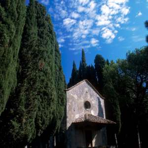 The chapel nearby the Trebbio castle