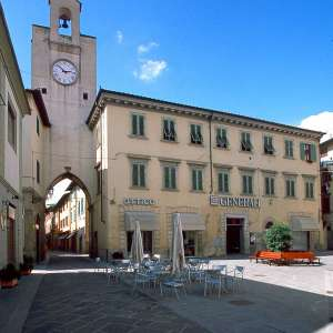 "The ""Clock Tower"" in Piazza Cavour"